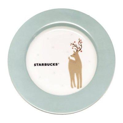 STARBUCKS 星巴克 雪地馴鹿點心盤 聖誕點心盤 星巴克耶誕點心盤 ☆星巴克聖誕節☆星巴克耶誕