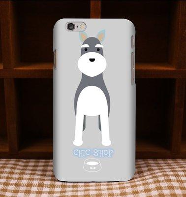雪納瑞客製寵物名字手機殼iPhone X 8 7 Plus 6S 5s 三星A7 J7 S8 S7 Note 5 8