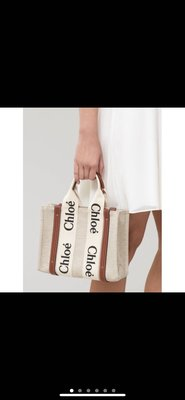 Chloe woody tote小號現貨  托特包 帆布 購物包 購物袋