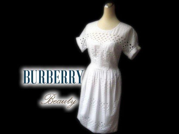 *Beauty*BURBERRY白色蕾絲洋裝  UK4號 WE14