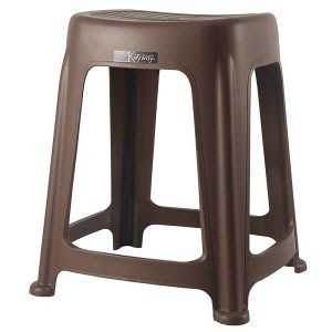 315百貨~庭院布置~RC6683 RC668-3 花園47CM止滑椅(咖啡) / 點心椅 塑膠椅 備用椅 四方塑膠椅