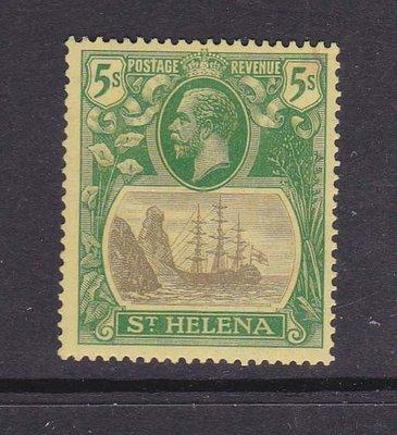 【雲品】聖赫勒拿島St Helena 1922 KGV SG 110 ( gum crease) MH 庫號#BP03 50981