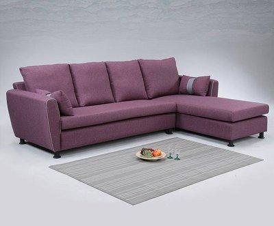 【尚品傢俱】 798-03 蘭斯L型亞麻布沙發 (另有灰、綠、紫色)/L-Shaped Sofa