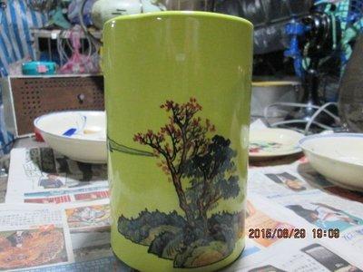 早期 中華藝術陶瓷花瓶(筆筒)
