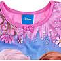 出口美國FROZEN冰雪奇綠粉底藍冰山公主袖連身短袖睡裙(120、140CM適用)官網同步