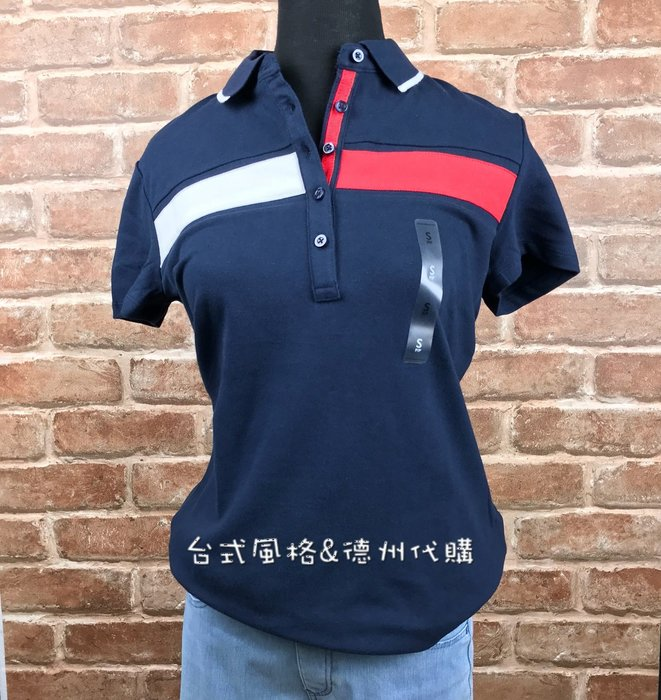 Tommy Hilfiger女版排扣襯衫領經典合身短袖中排扣立領T恤正版新款夏季美國代購