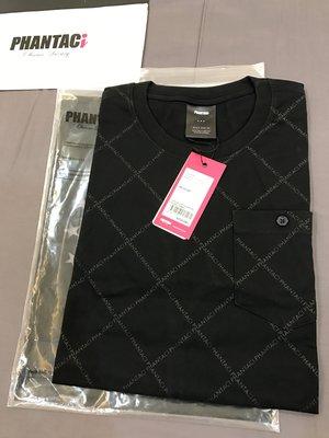 全新 口袋t 菱紋 周杰倫 Phantaci 滿版 范特西 JAY 格子 夏天 短袖 短Tee 黑色