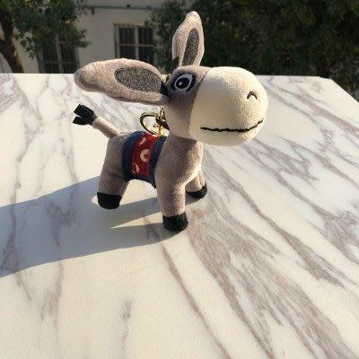 創意毛驢汽車鑰匙扣毛絨小驢騾子玩偶包包掛件香味鑰匙鏈男女禮物