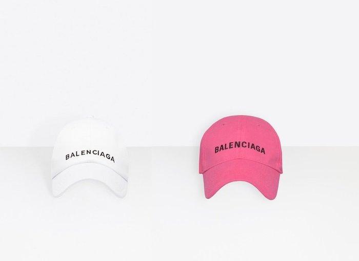 ◎美國代買◎BALENCIAGA CAP 刺繡logo裝飾純色純棉棒球帽~歐美時尚~另有灰色下標處