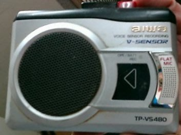 aiwa 愛華 錄放音機 密錄機 卡式 錄音機  使用一般卡帶 (TP-VS480)