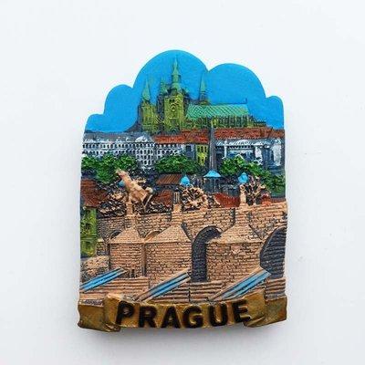 【新款冰箱貼】捷克首都布拉格打卡景點 查理大橋旅游紀念品手工彩繪磁鐵冰箱貼