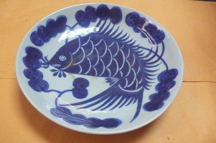 紫色小館89-------清-小青花魚盤