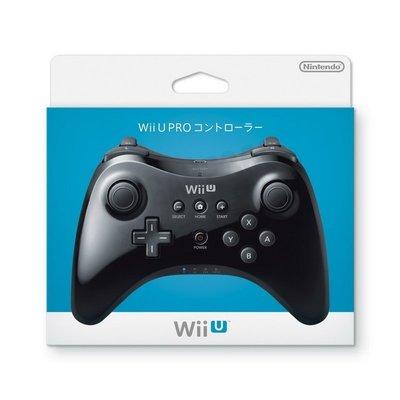 任天堂 Nintendo WiiU PRO 原廠無線手把 傳統手把 黑色(內附充電線)WUP-005【台中恐龍電玩】
