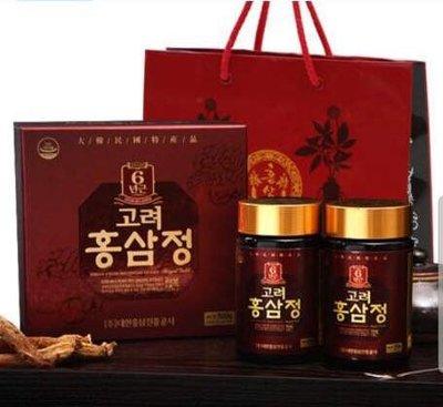 誘 惑 💝 韓國特產品 紅蔘 紅蔘精 人蔘 6年根 人蔘膏 紅蔘膏 人蔘茶 禮盒🎁250g 2瓶 保期至2021/7現貨