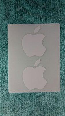 蘋果Logo原裝白色膠質貼紙,一張二個Apple。