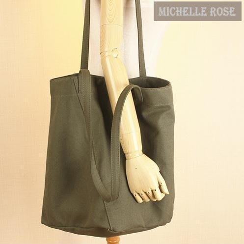 [SLNK160124-2]韓國訂單超百搭純色簡約帆布包休閒單肩手提購物包-4色