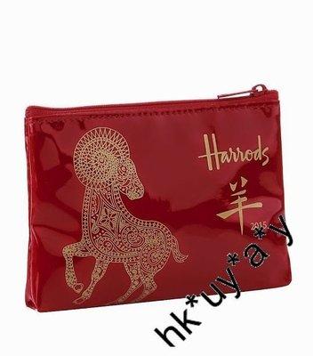 Buy Easy $227.1  現貨 特價 2015羊年款 英國 Harrods 限量版 PVC 散包 零錢包 化妝袋 禮物 聖誕 X'mas