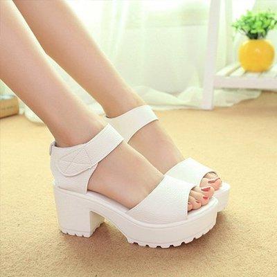 Ovan 首爾夏日高跟質感 厚底涼鞋