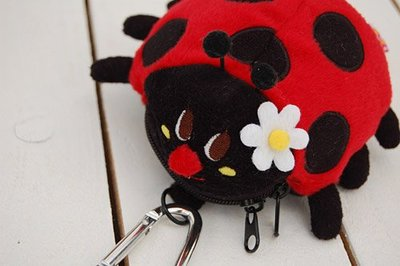 日本GLADEE可愛瓢蟲造型零錢包/小物包/掛飾--秘密花園