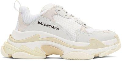 ~The Black Dan Moccani~ [新款] BALENCIAGA Triple S 髒污白色 三疊橡膠鞋
