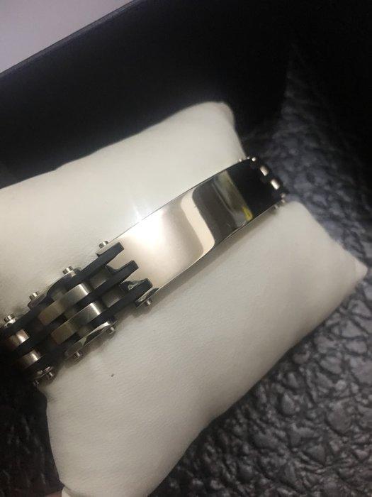 不鏽鋼男生鍺鍊 不鏽鋼加橡膠磁吸式扣環 原價$5280