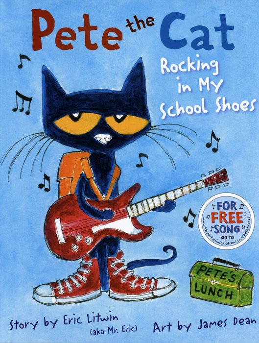 *小貝比的家*PETE THE CAT: ROCKING IN MY SCHOOL SHOES /精裝/3~6歲
