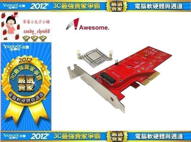 【35年連鎖老店】Awesome M.2 NVMe高功率SSD轉PCIe 3.0x4轉接卡 AWD-DT-129A有發票