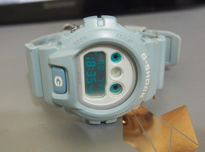 【90% New】CASIO G-SHOCK DW-6900SG 粉藍 沁涼冰沙