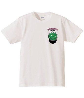 ✞ASENSERI✞ GREEN PRICKLE TITANOTA TEE 龍舌蘭圖像短 TEE
