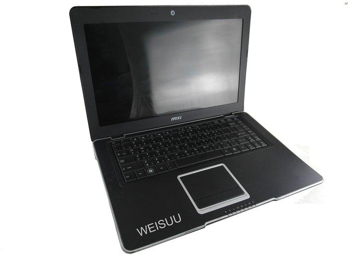 {偉斯科技}MSI X410(X320 X340 X410 u100 u90 u135 u270 可參考)黑時尚輕薄筆電