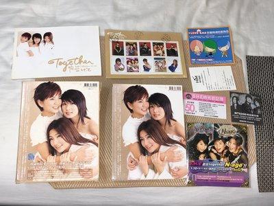 【李歐的音樂】片況幾乎全新 S.H.E Together 新歌+精選 CD+VCD外紙盒裝有郵票歌迷卡線上遊樂片折價券
