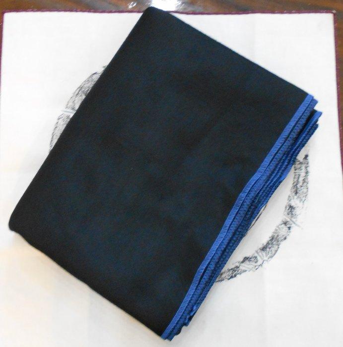 【麋研齋】全開藍車邊黑色墊布 A4