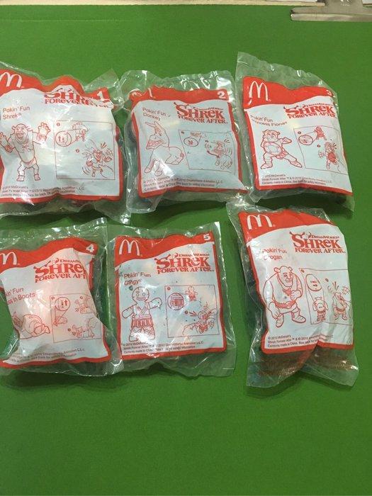 麥當勞2010年夢工廠 史瑞克 驢子 鞋貓 費歐娜 大全套6款直購價699元