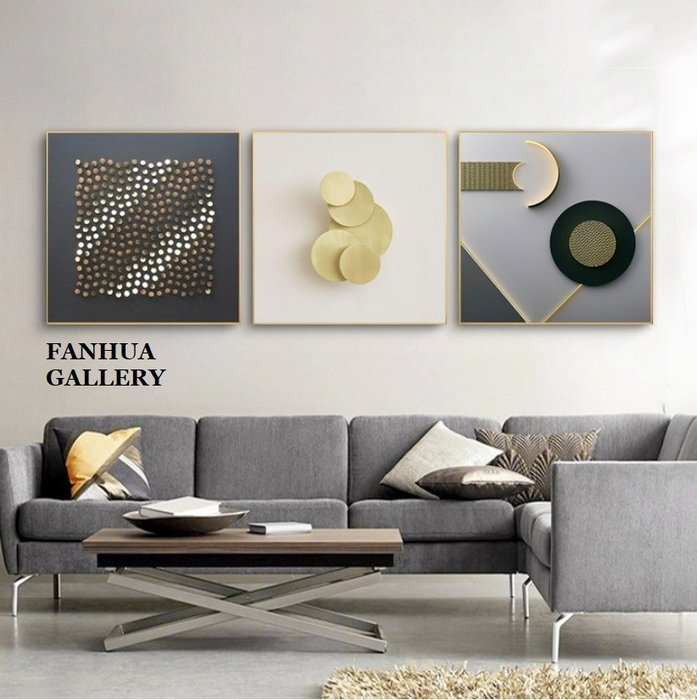 C - R - A - Z - Y - T - O - W - N 時尚極簡抽象掛畫方形幾何藝術裝飾畫建設公司設計師掛畫