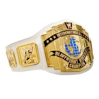 [美國瘋潮]正版WWE White Intercontinental Champion 經典白色洲際冠軍擬真版腰帶RAW