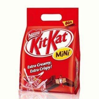 【苡琳小舖】[現貨]德國雀巢 KitKat 奇巧酥脆巧克力 60入/包 (家庭號)