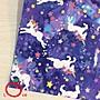 *樂芙領巾/ 手作*紫藍底星星夢幻獨角獸飛馬...