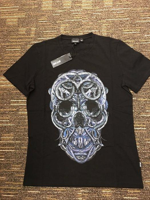 喬瑟芬【Just Cavalli】特價$4000~2015春夏 Snake Skull  棉質 T 恤