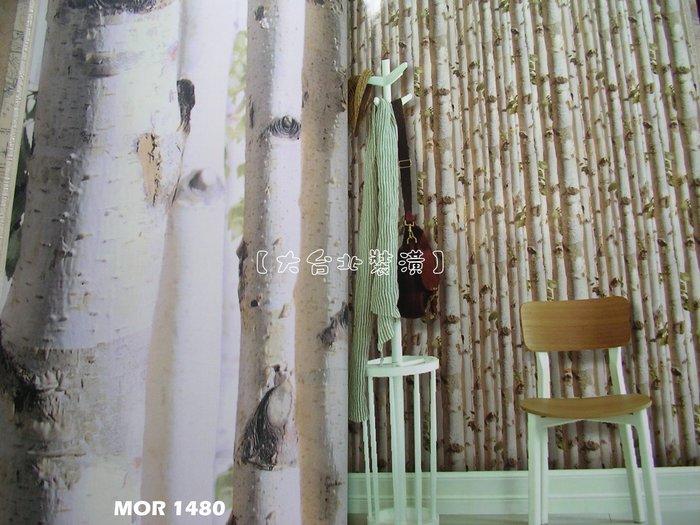 【大台北裝潢】MOR國產現貨壁紙* 白化樹幹 森林 每支360元