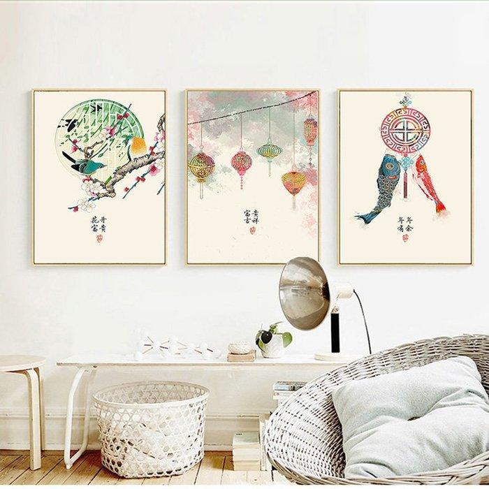 ☺暖暖屋☺傢居藝術館 新中式民俗風裝飾畫/掛畫/有框畫/多款樣式/多種尺寸