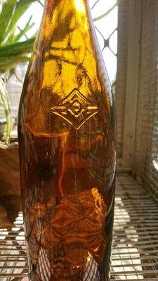 日治時期 台灣總督府 專賣局 老玻璃 老酒瓶 老氣泡