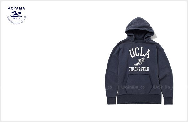 washida PLUS+【the POOL aoyama POOL UCLA HOODIE 文字 大學 連帽T恤 】