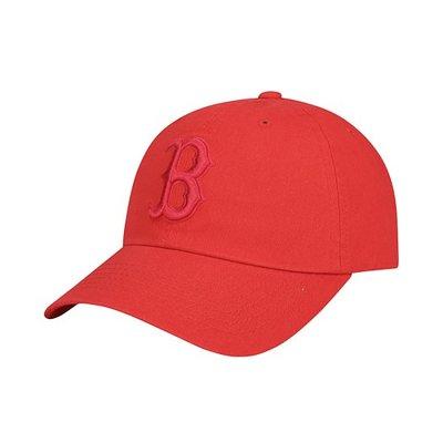 預購特價【韓Lin連線代購】韓國 MLB - 紅色B字母刺繡紅色棒球帽 LETTERING 32CP71911