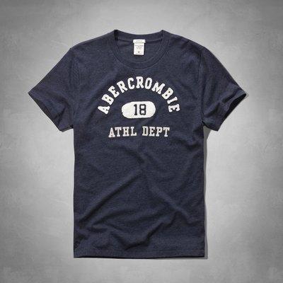 Maple麋鹿小舖 Abercrombie&Fitch *AF 藍色貼布電繡短T*( 現貨S/M/XXL號 )