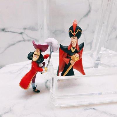 迪士尼 反派 杯緣子 盒玩 公仔 小飛俠 虎克船長 阿拉丁 賈方 Villains Putitto