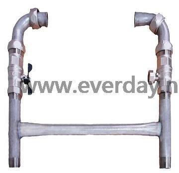 (永展) 自來水錶架 不鏽鋼立式水表架 立式水錶架