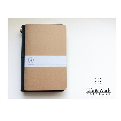 //單買區//【黑濯文坊】Life & Work 真皮皮革手帳筆記本 (B6 slim) -巴川紙內頁本-點點