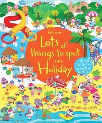 *小容容*Usborne Lots of things to spot on Holiday 尋找遊戲貼紙書-假期