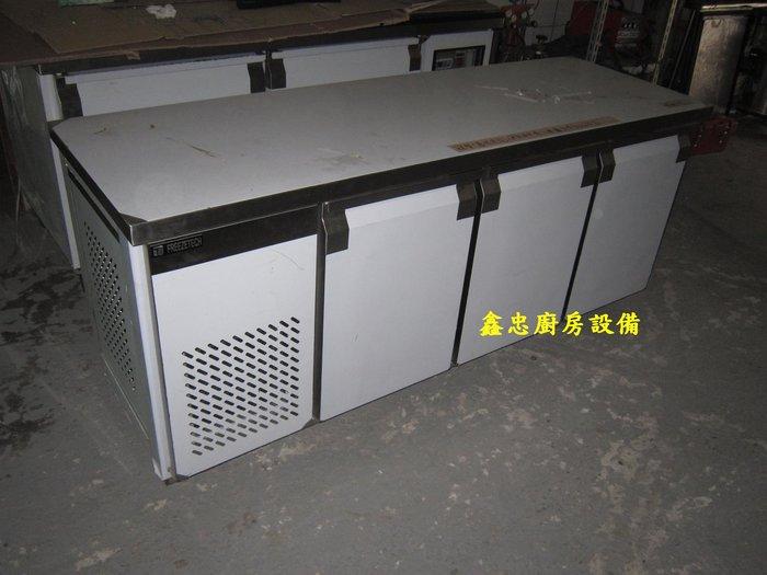鑫忠廚房設備-餐養設備:手工冰箱系列-六尺工作檯冰箱-賣場有-西餐爐-烤箱-水槽-快炒爐