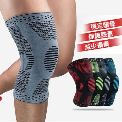 糖衣子輕鬆購【AS0237】戶外籃球運動護膝護具跑步健身膝蓋護具針織腿套(單)